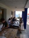 Activités sur la terrasse